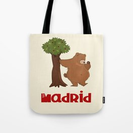 MADRID: Bear and Madrono (v.2) Tote Bag