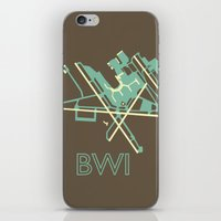 50s iPhone & iPod Skins featuring Baltimore-Washington (BWI) - 50s by Kyle Rodgers
