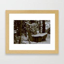 wet bum Framed Art Print