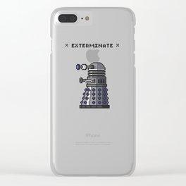 Pixel Dalek Clear iPhone Case