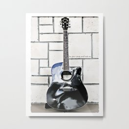 Be Your Song and Rock On in White Metal Print