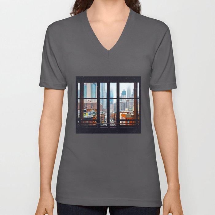 New York City Window Unisex V-Ausschnitt