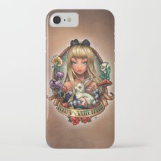 Follow The White Rabbit. iPhone 7 Slim Case