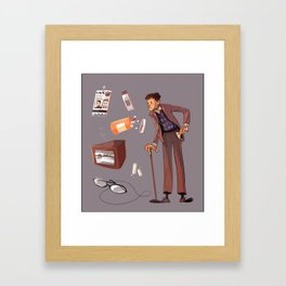 Turned Out Pockets Framed Art Print