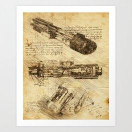 Codex: Lightsaber Art Print