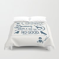 marauders Duvet Covers featuring I Solemnly Swear... by Shelby Ticsay