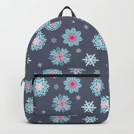 Snowflakes - Rainbow Snowflakes Grey Backpack