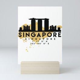 SINGAPORE SILHOUETTE SKYLINE MAP ART Mini Art Print