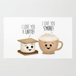 I Love You A Latte! I Love You S'more! Rug