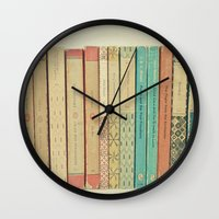 books Wall Clocks featuring Books by Cassia Beck