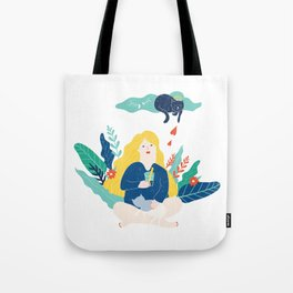 Cat lady Tote Bag