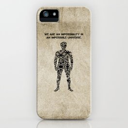 Ray Bradbury Quote - Impossible Universe - Illustrated Man iPhone Case