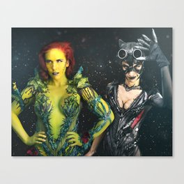 Poison Ivy and Catwoman TAKE OVER Canvas Print