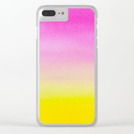 Abstract painting in modern fresh colors Clear iPhone Case