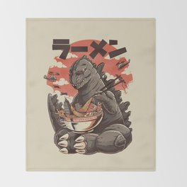 Kaiju's Ramen Throw Blanket