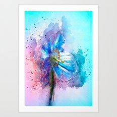 Blue Poppy Art Print