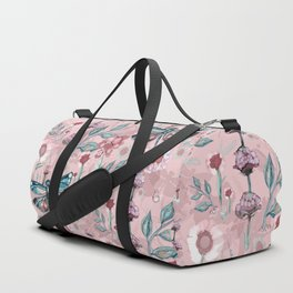 Rose Gold Dragonfly Garden | Pastel Duffle Bag