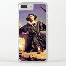 Matejko-Astronomer Copernicus-Conversation with God Clear iPhone Case