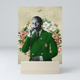 The wise & daper altruist, Muhammad Jinnah Mini Art Print