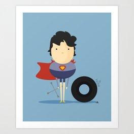 Superman: My Super hero! Art Print