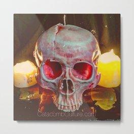 Catacomb Culture - Skull Candle Metal Print