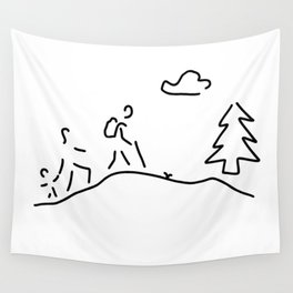 walk walking wandering Wall Tapestry