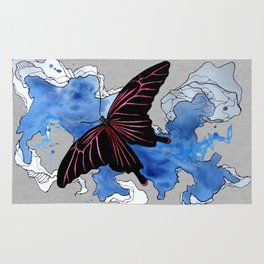 Butterfly II ink by carographic, Carolyn Mielke Rug