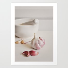 Garlic. Art Print