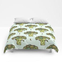 brilliant broccoli Comforters