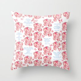Wrap yourself in the promises of God Throw Pillow