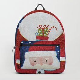 Santa with Stocking Backpack