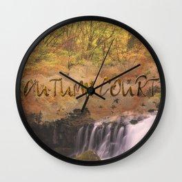 Autumn Court Wall Clock