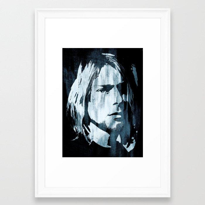 Kurt# Cobain#Nirvana Framed Art Print by dada22 | Society6