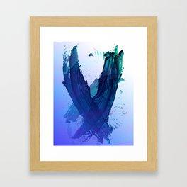 Atmospheric Blue Wings Framed Art Print