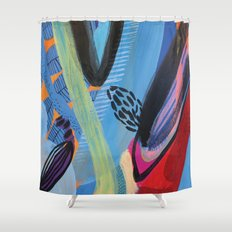 Drops III Shower Curtain
