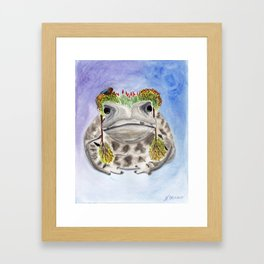 Garden Frog Framed Art Print