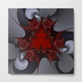 red blue and silver spurs Metal Print