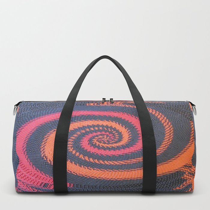 3D textured African weaving basket with woman profile Duffle Bag