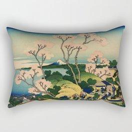 "Hokusai (1760–1849) ""Goten-yama-hill, Shinagawa on the Tōkaidō"" Rectangular Pillow"