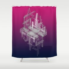 Secret Life of a Raindrop, Part One Shower Curtain