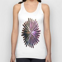 the wire Tank Tops featuring Wire Circle by Brian Raggatt