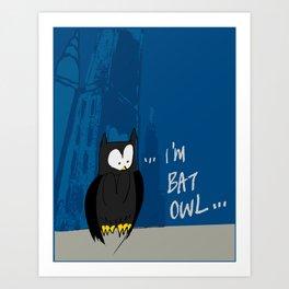 Bat Owl ... Art Print
