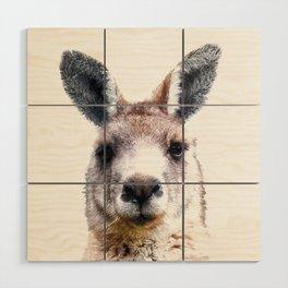 Kangaroo Portrait Wood Wall Art