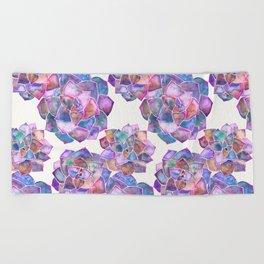 Rosette Succulents – Galaxy Palette Beach Towel