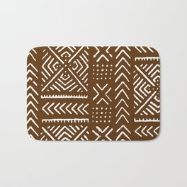 Line Mud Cloth // Brown Bath Mat