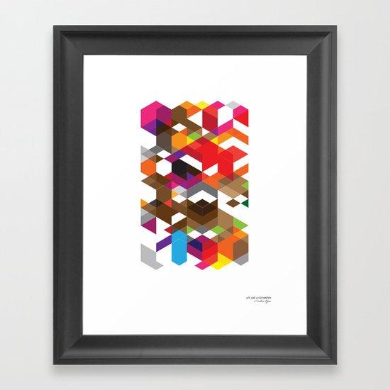 Life like a Geometry Framed Art Print