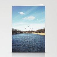 denmark Stationery Cards featuring Copenhagen, Denmark by Ubersuper (Stefan Sicher)