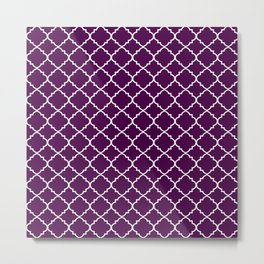 Dark Purple Moroccan Pattern Metal Print