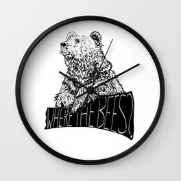 Where the Bees? Wall Clock