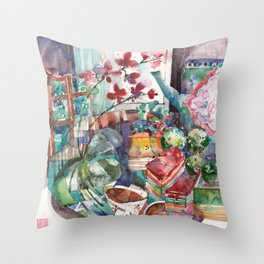 Snacks & Supper Throw Pillow